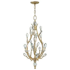Eve Champagne Gold Three-Light Foyer