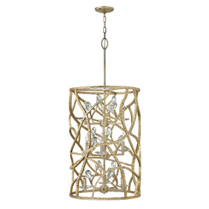 Eve Champagne Gold Nine-Light Three-Tier Foyer