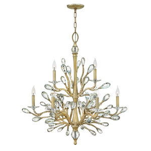 Eve Champagne Gold Nine-Light Two Tier Chandelier