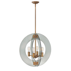 Solstice Heirloom Brass 24-Inch Four-Light Pendant