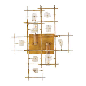 Petra Luster Gold Two-Light Wall Sconce