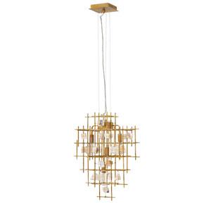Petra Luster Gold Four-Light Single Tier Pendant