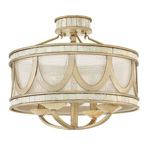 Sirena Champagne Gold Semi Flush Mount