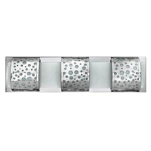 Mira-Fizz Polished Chrome Three-Light Bath Light