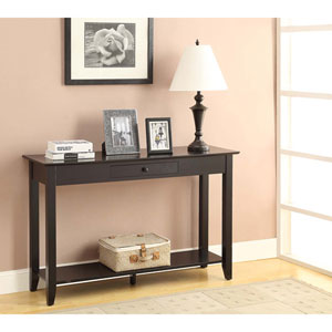 American Heritage Black Console Table