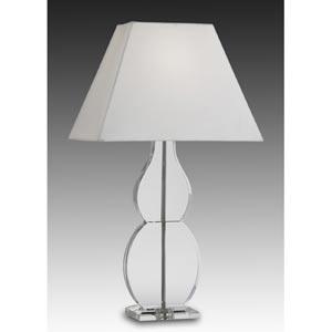 27-Inch Satin Nickel Full Lead Crystal Table Lamp