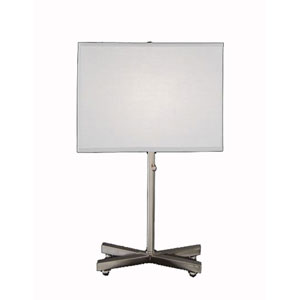 X Base Satin Nickel Table Lamp W White Linen Louise Rectangle Shade