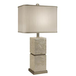 Seaside Table Lamp with Rectangle Shade
