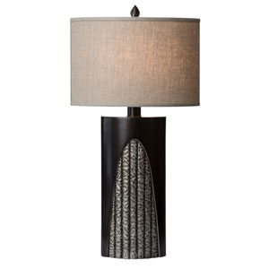 Troy Linen Oval Shade Table Lamp