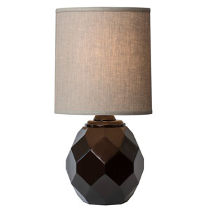Espresso Table Lamp with Ebony Bronze Finish