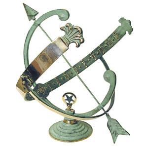 Medium Brass Armillary Sundial