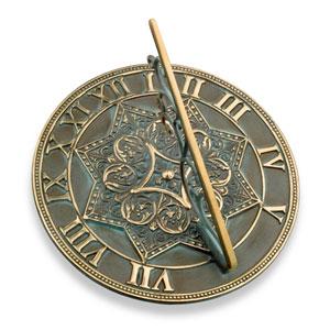Brass Gothic Sundial