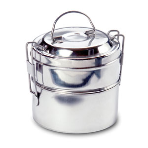 Stainless Steel Two-Tier Mini Round Tiffin