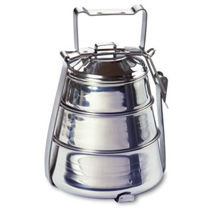 Stainless Steel Three-Tier Belly Tiffin