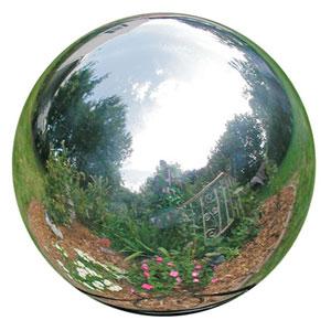 Six Inch Silver Stainless Steel Gazing Globe