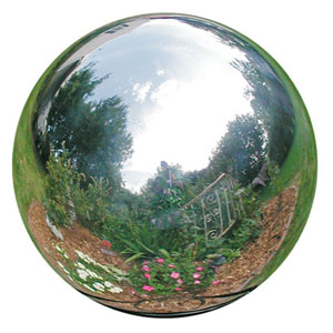 Eight Inch Silver Stainless Steel Gazing Globe