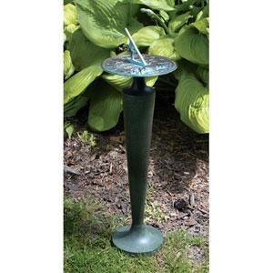 Cast Aluminum Pedestal Moss Green Patina - Pedestal Only