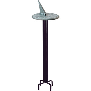 Black Classic Pedestal Wrought Iron with Black Powdercoat - Pedestal Only