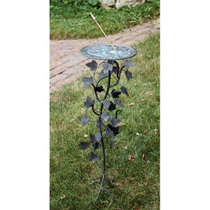 Grapevine Pedestal Base Wrought Iron with Antique Finish - Pedestal Only
