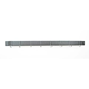 Hammered Steel 36-Inch Bar Rack