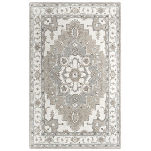 Conley Beige and White 5 Ft. x 7 Ft. 6 In. Tufted Rug