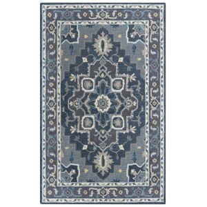 Conley Gray and Blue 7 Ft. 9 In. x 9 Ft. 9 In. Tufted Rug