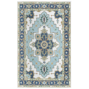 Conley Light Blue 5 Ft. x 7 Ft. 6 In. Tufted Rug