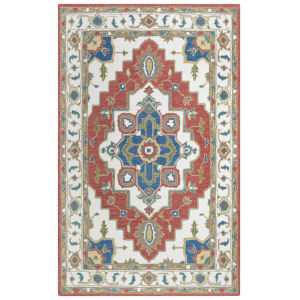 Conley Red 7 Ft. 9 In. x 9 Ft. 9 In. Tufted Rug