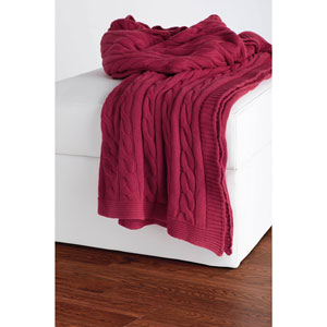 Knit Red Throw