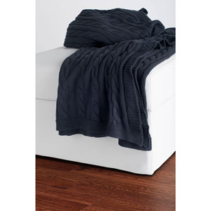 Knit Grey Throw