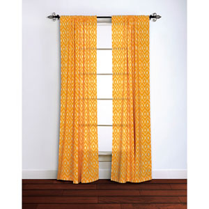 Ikat Yellow 95 x 42-Inch Curtain Single Panel
