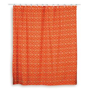 Ikat Orange Shower Curtain