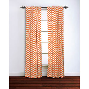 Chevron Orange 84 x 42-Inch Curtain Single Panel