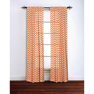 Chevron Orange 95 x 42-Inch Curtain Single Panel