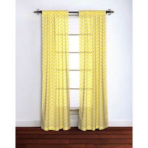 Chevron Yellow 95 x 42-Inch Curtain Single Panel