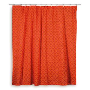 Moroccan Orange Shower Curtain