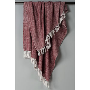 Herringbone Raisin Throw