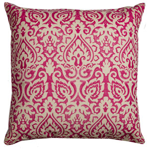 Dulane Pink 22-Inch Throw Pillow