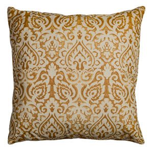 Dulane Gold 22-Inch Throw Pillow