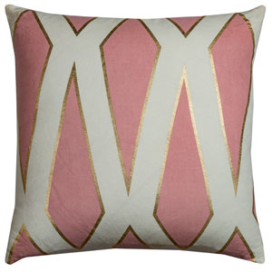 Gatsby Pink 20-Inch Throw Pillow