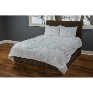 Hush White Three-Piece King Comforter Set