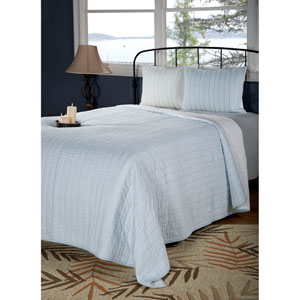 Gracie Blue Twin Quilt