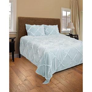 Posh Blue Two-Piece Twin Quilt Set