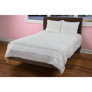 Georgette Ivory Two-Piece Twin Quilt Set