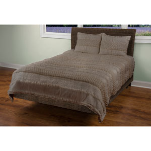 Georgette Grey Two-Piece Twin Quilt Set