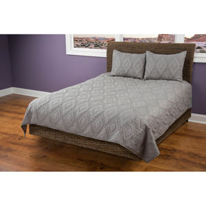 Tapper Grey Twin Quilt