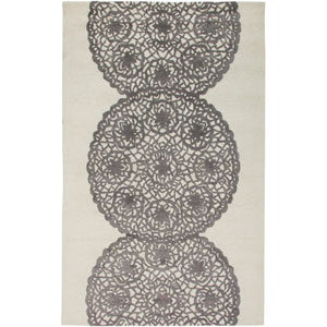 Dimensions White and Gray Rectangular: 5 Ft. x 8 Ft. Rug