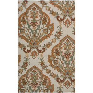 Ashlyn Beige and Gray Rectangular: 5 Ft. x 8 Ft. Rug