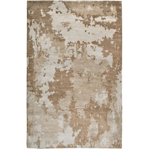 Avant-Garde Beige and Brown Rectangular: 5 Ft. 6 In. x 8 Ft. 6 In. Rug