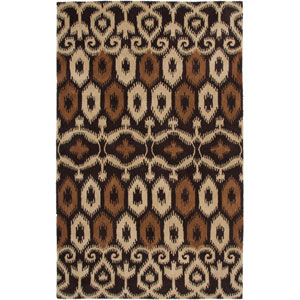 Volare Brown and Tan Rectangular: 2 Ft. x 3 Ft. Rug